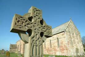 A Celtic Cross at Lindisfarne